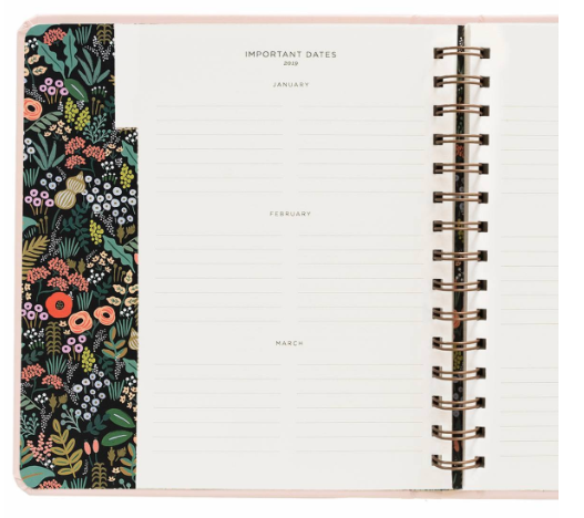 2019 Bouquet Covered Planner 5