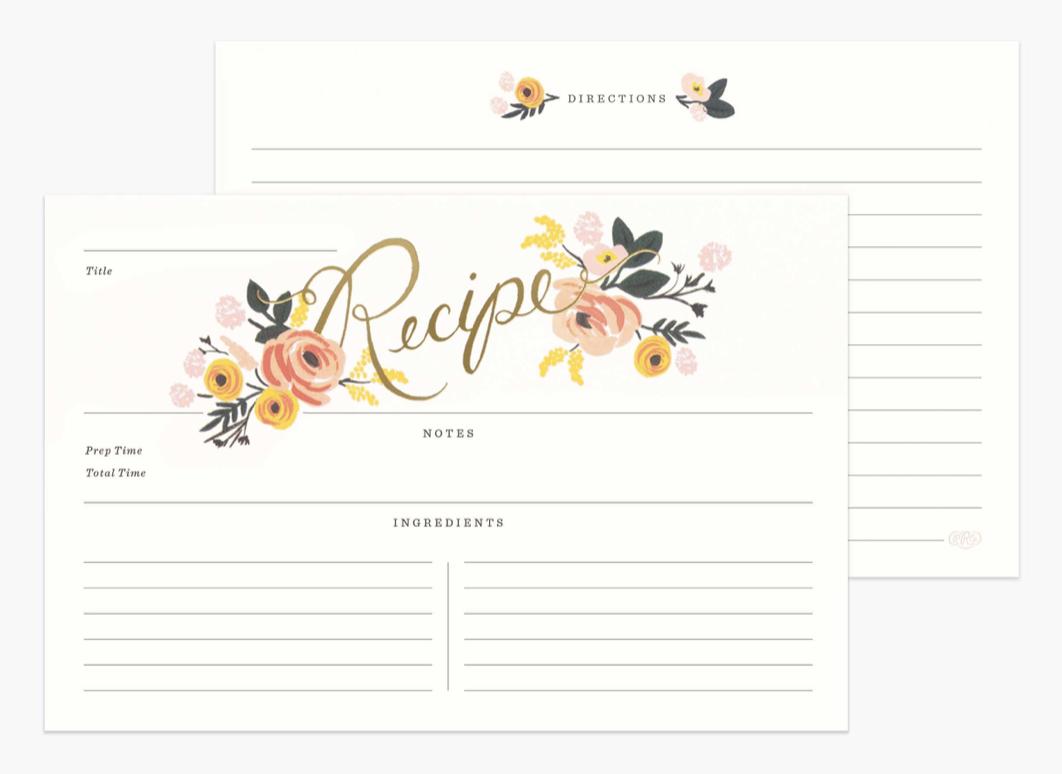Peony Recipe Cards 4