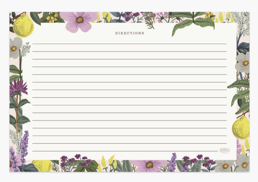 Herb Garden Recipe Cards 2