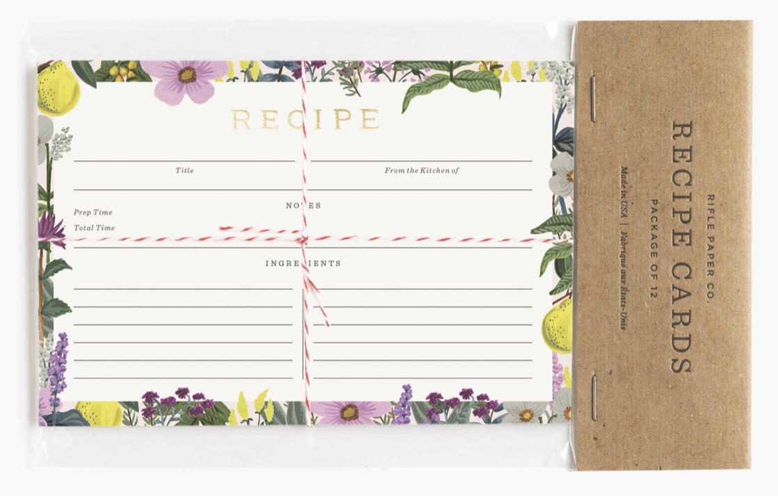 Herb Garden Recipe Cards 3