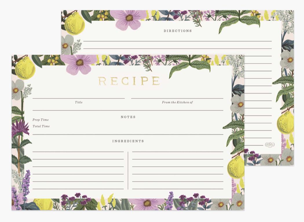 Herb Garden Recipe Cards 4