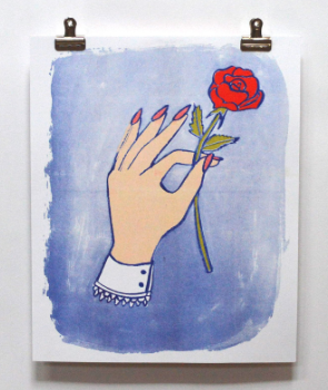 Hand Flower Print