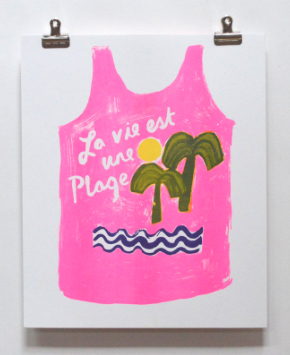 Life s A Beach Print