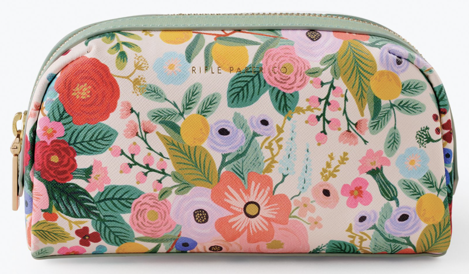 Garden Party Small Cosmetic Pouch
