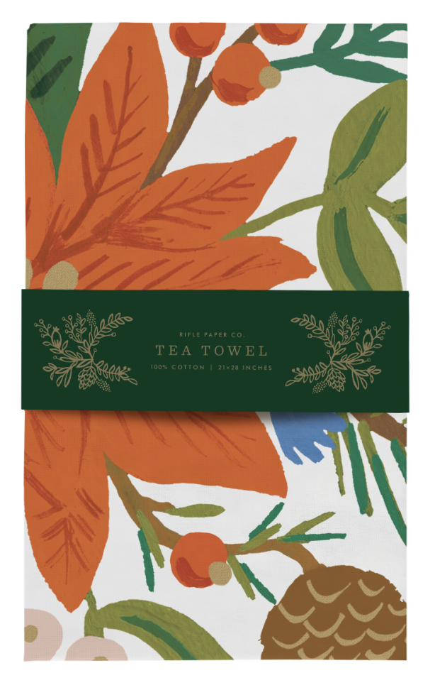 Holiday Bouquet Tea Towel 3