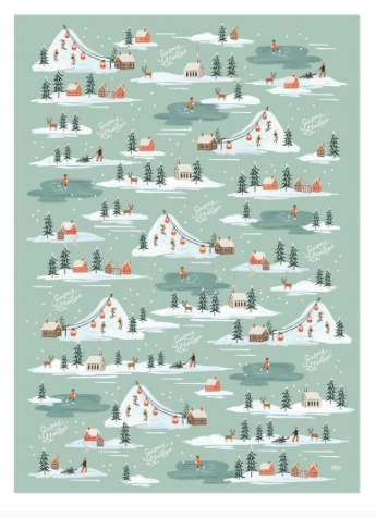 Holiday Snow Scene Wrap 2