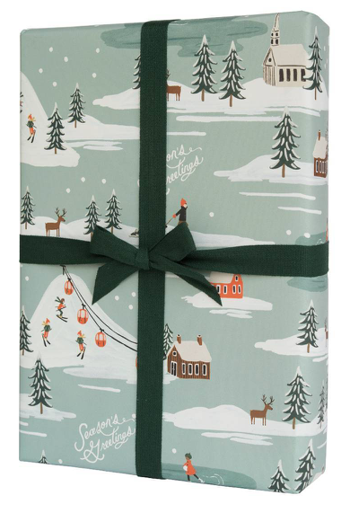 Holiday Snow Scene Wrap
