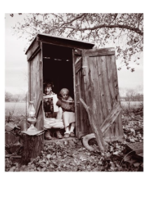 Couple in Outhouse