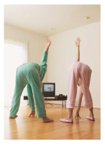 Exercising Couple - Palm Press