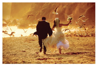 Bride & Groom Beach Run -