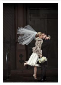 Bride & Groom Kissing - VE