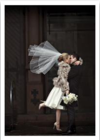 Bride & Groom Kissing - VE