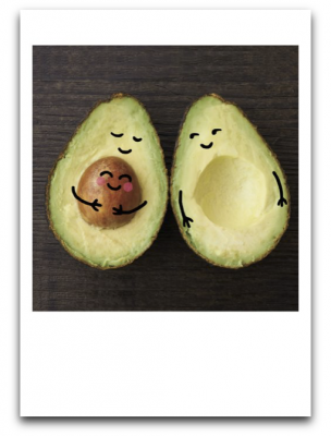 Pregnant Avocado Card