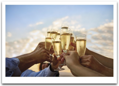 Champagne Toast Card
