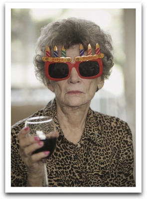 Lady Birthday Glasses Card