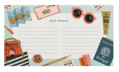 Bon Voyage Notepad - VE 6