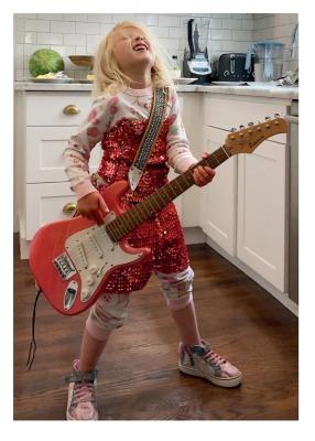 Girl Rocker Card - Palm Press