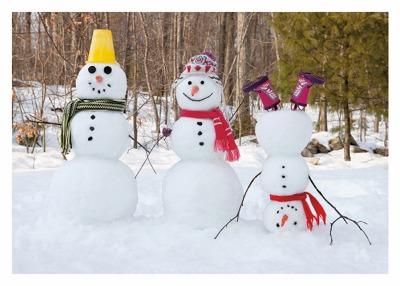 Snowman Family Card - Palm Press