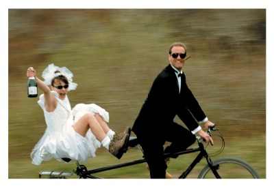 Wedding Couple Tandem Card Palm Press