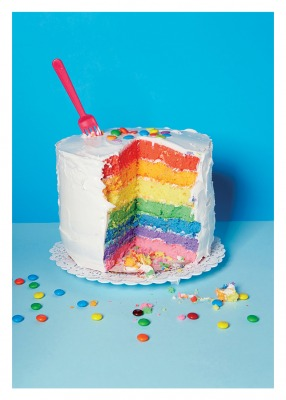 Rainbow Cake Card - Palm Press