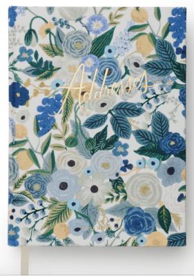 Garden Party Blue Address Book VE