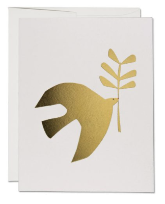 Peace Dove Card - Red Cap Cards