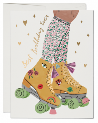 Roller Skate Card Red Cap Cards