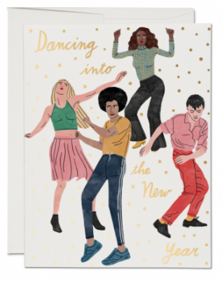 Dance Into The New Year Card - Red Cap Cards