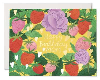 Strawberry Mom Card Red Cap Cards