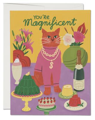 Magnificent Cat Card Red Cap Cards