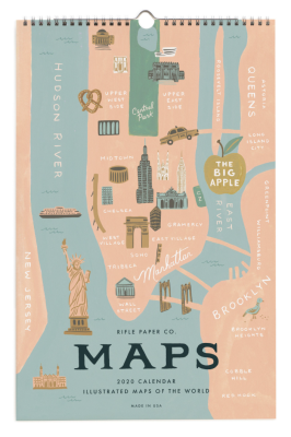 2020 City Maps Calendar Calendar - Rifle Paper Co. Kalender