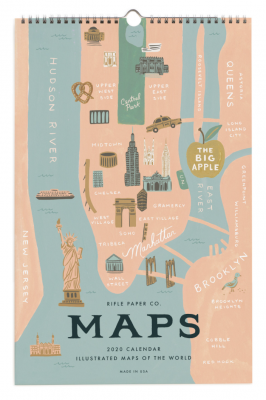 City Maps Calendar Calendar Rifle Paper