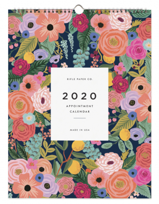 2020 Garden Blooms Calendar - Rifle Paper Co. Kaleder