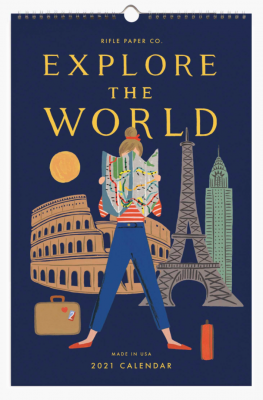 Explore The World Calendar Rifle Paper