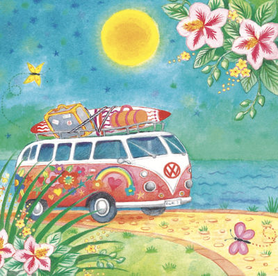Hot Summer Bus Card - VE 6