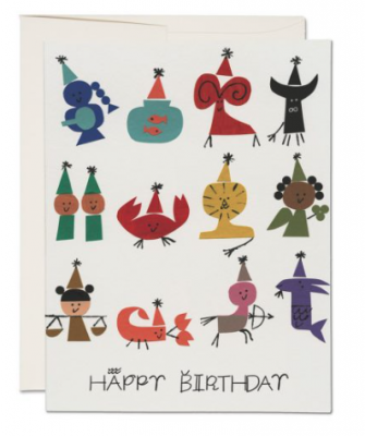 Astrology Party Card Red Cap Cards