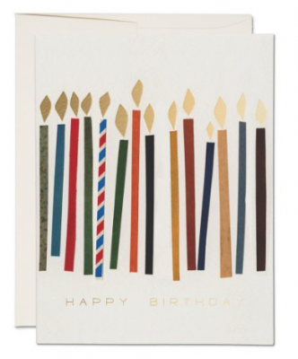 Candles Card - Red Cap Cards