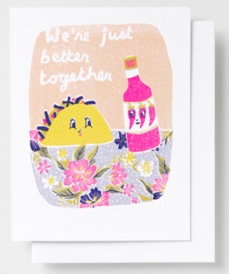 Better Together Taco Card Yellow Owl