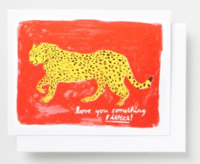 Love You Something Fierce Card Yellow
