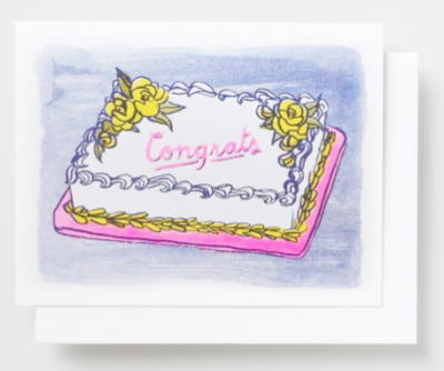 Congrats Cake Card Yellow Owl Workshop