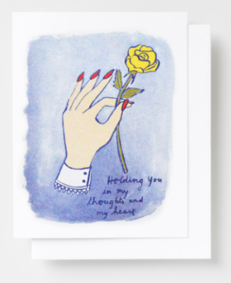 Holding You in My Toughts Card - Yellow Owl Workshop
