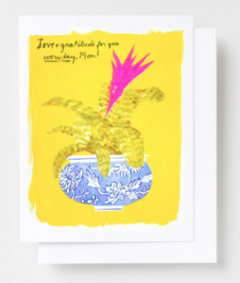 Love Gratitude Mom Card Yellow Owl