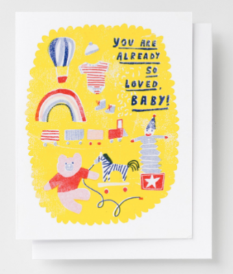 So Loved Baby Card Yellow Owl