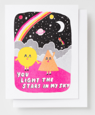 You Light the Stars Card - Yellow Owl Workshop
