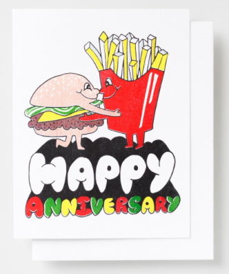 Happy Anniversary Card Yellow Owl Workshop