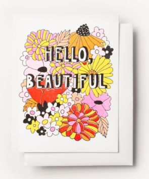Hello Beautiful Card Yellow Owl Workshop