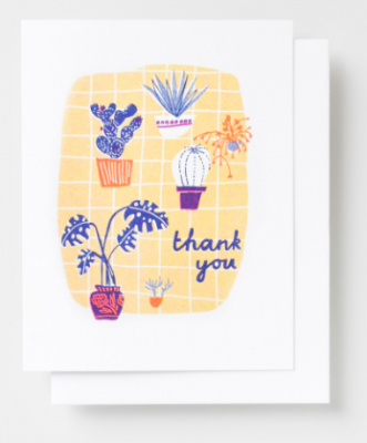 Many Thanks Plant Card Yellow Owl