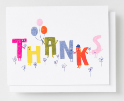 Thanks Friends Card Yellow Owl Workshop
