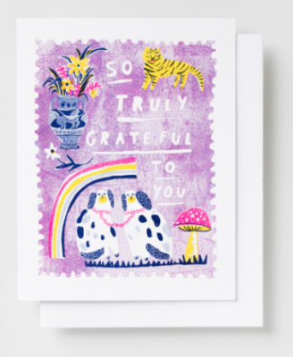 So Truly Grateful Card Yellow Owl