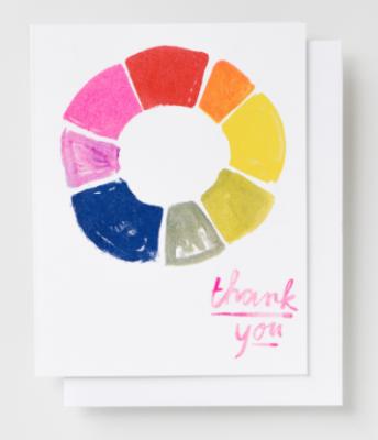 Thank You Color Wheel Card Yellow